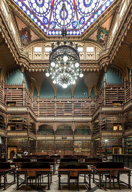 Real Gabinete Português de Leitura – Royal Portuguese Reading Room, Rio de Janeiro, Brazil by Scott Norsworthy on Flickr