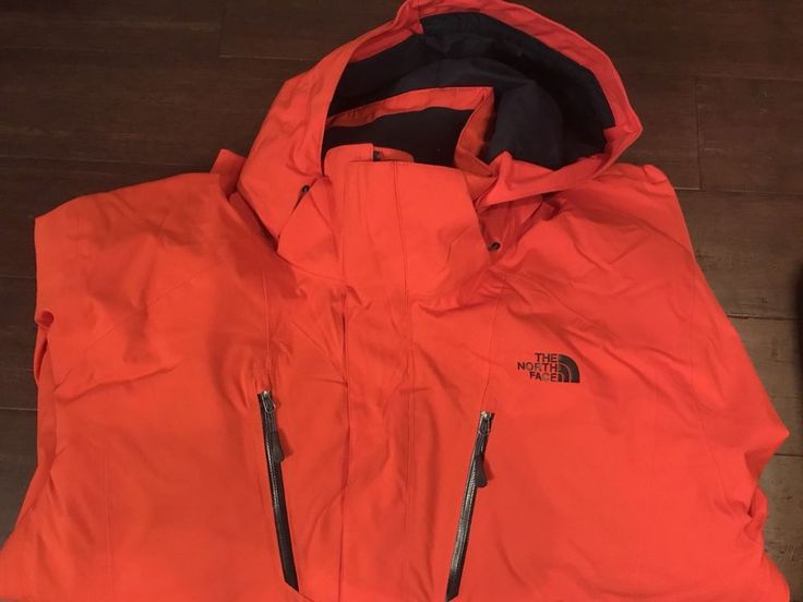 North Face NEW Mens Winter Jacket Size XXL Orange Ski Snowboard   | eBay
