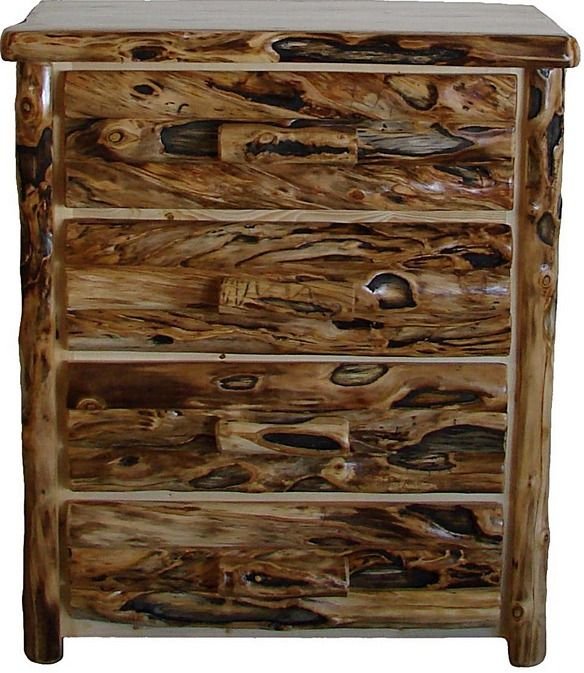 Extra Gnarly Aspen Four Drawer Dresser. Love The Beautiful Rustic Look! Log  FurnitureWood SlabRustic WoodAspenDresserColoradoLogsDrawersHobbies