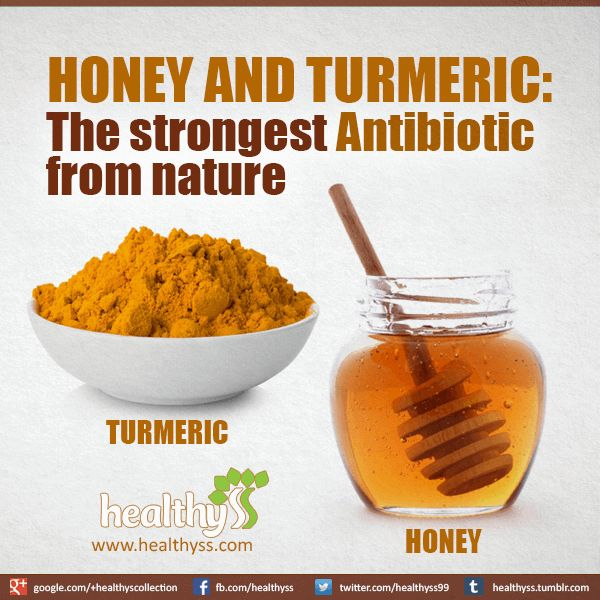 Turmeric and honey- 3.5 oz. honey and 1 T turmeric