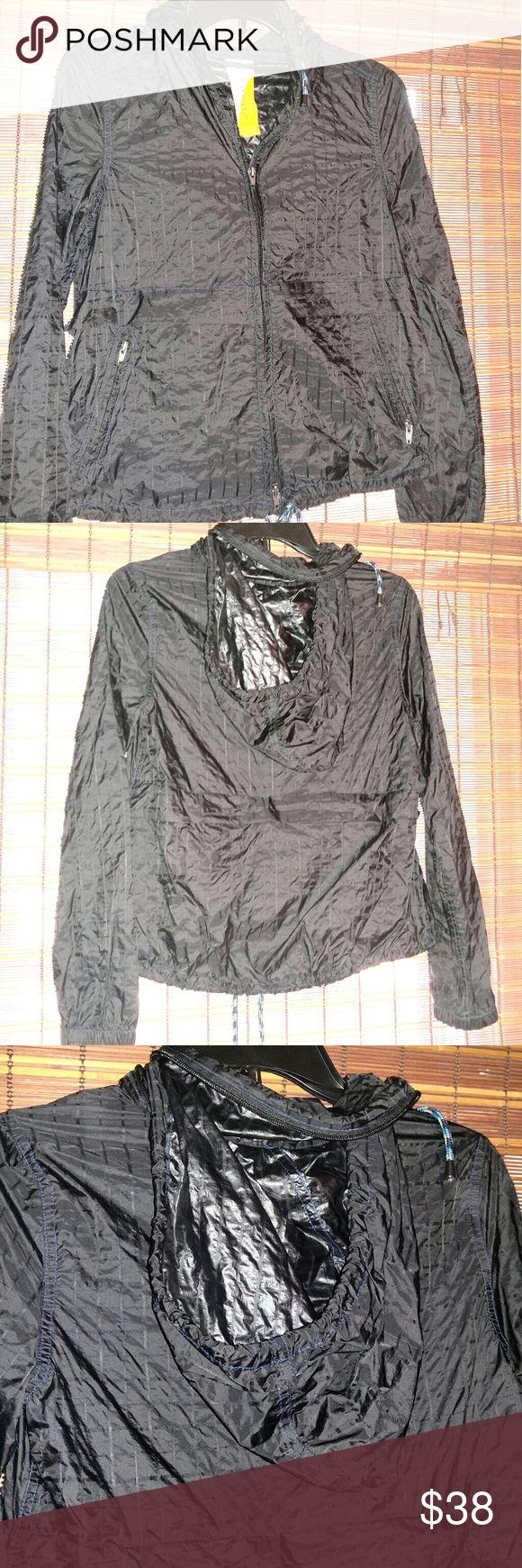 Free people rain coat Size xs black rain coat. Like new hood zips into collar. Very nice rain coat lightweight.... Free People Jackets & Coats Trench Coats