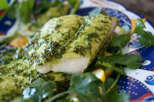 Broiled Cilantro Chimichurri Dover Sole | Cooking On The Weekends - we love chimichurri, but I don't cook beef anymore; this will be nice to try over a mild white fish.