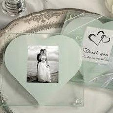 Two heart Love Glass Coaster Favour