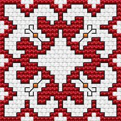 Bulgarian Motifs.Biscornu free cross stitch pattern