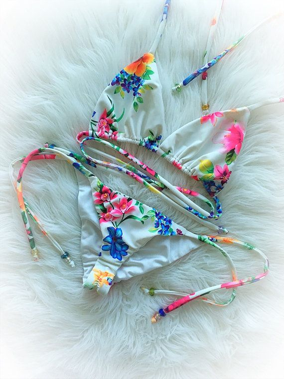 LaReeka bloemen Bikini van LaReekaSwimwear op Etsy
