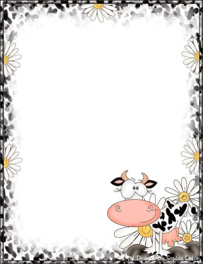 Cow and Daisies .
