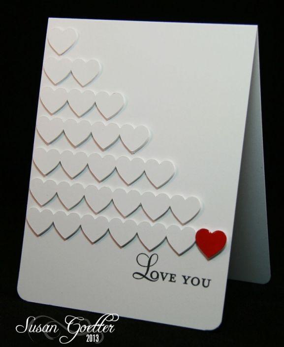 Ideas de tarjetas de San Valentín, sencillas y preciosas
