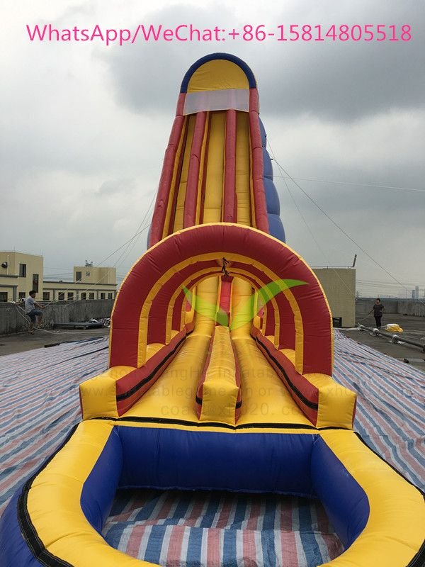 Inflatable Hippo water slides is an amazing huge water slide for kids and adults for high volume events: Size: 20x4.5x12 M Material: 1000D 0.55MM PVC Tarpaulin More information, plz contact us: coast@xh020.com. Thanks!