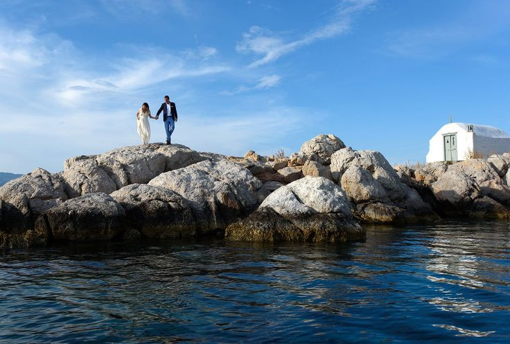 Nina & Owen | Destination Wedding in Greece | Hydra Island . Pre wedding shoot in Hydra #wedding #weddingphotography #destinationwedding #couple #greece