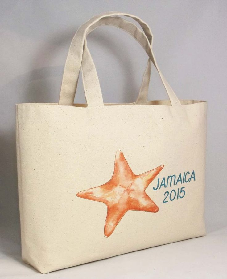 Destination Beach Wedding Starfish Bag Tote Handmade And Personalized For You 18