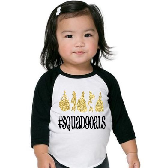 Princess #squadgoals ,Funny saying shirt, Trendy baby girl shirt, baby t-shirt, baby girl clothes, funny bodysuit, Hipster baby girl tee