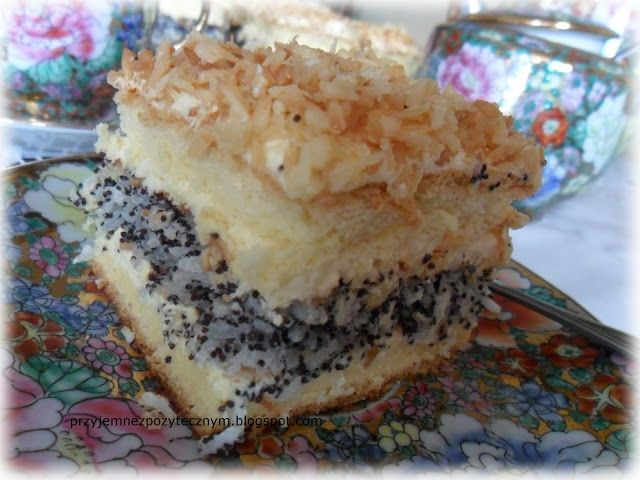 Ciasto makowo -kokosowe