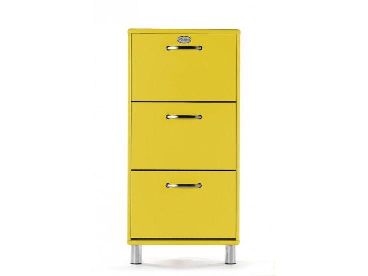 Szafka na Buty Malibu żółta — Szafki na buty Tenzo — sfmeble.pl  #yellow #furniture  #modern  #sfmeble