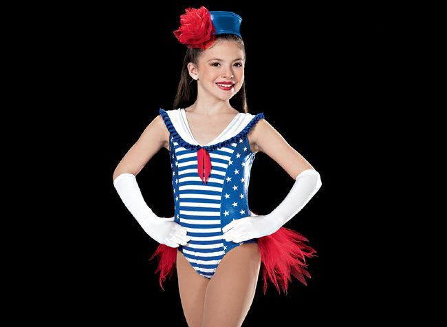 Patriotic Dance Costume for Twirlers. ARTSTONE Costumes, Competition 2014