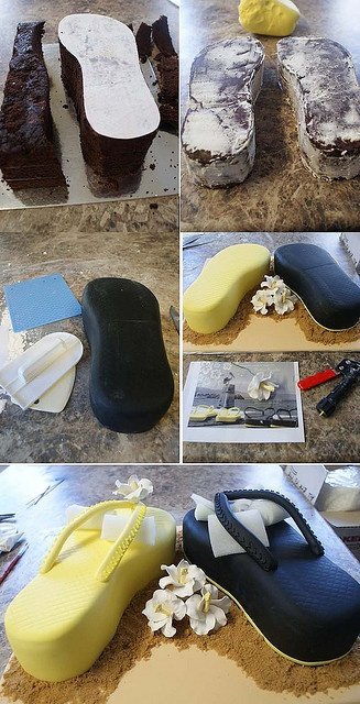 Flip Flop Cake...I am going to try this...