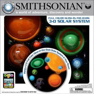 Smithsonian 3-D Hanging and Glowing Solar System