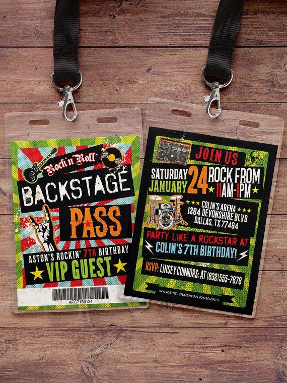 Punk Rock, VIP PASS, backstage pass, Vip invitation ...