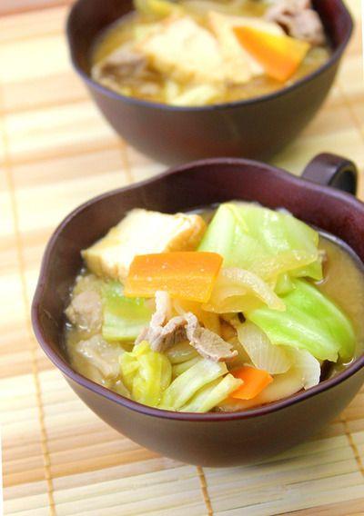 具沢山でおかず味噌汁(食べるスープ) *ダイエット、簡単 by apomomoko ...