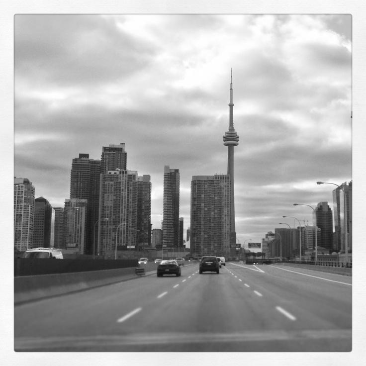 Driving through Toronto