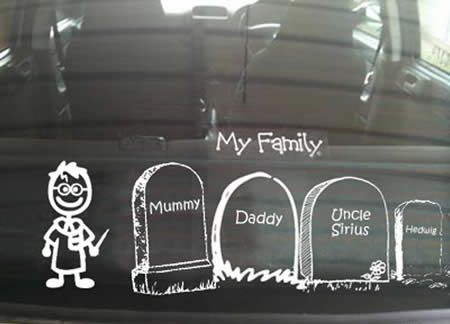 Best Funny Car Window Stickers Images On Pinterest Funny - Family car sticker decalsfamily stickers family car stickers