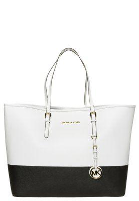 Michael Kors- JET SET TRAVEL - Shopping Bag - opticwhite/black