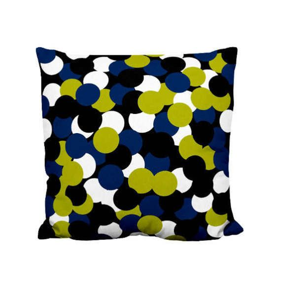 Best Throw Pillow Covers Part - 50: Throw Pillow Cover Black Navy Green White Home By HLBhomedesigns