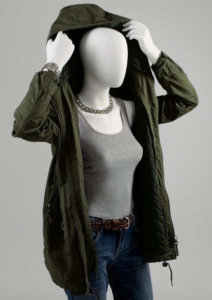 110 Casual #FemaleMannequins #torso #hood #parka