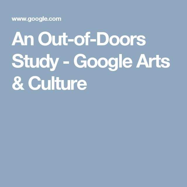 An Out-of-Doors Study - Google Arts & Culture
