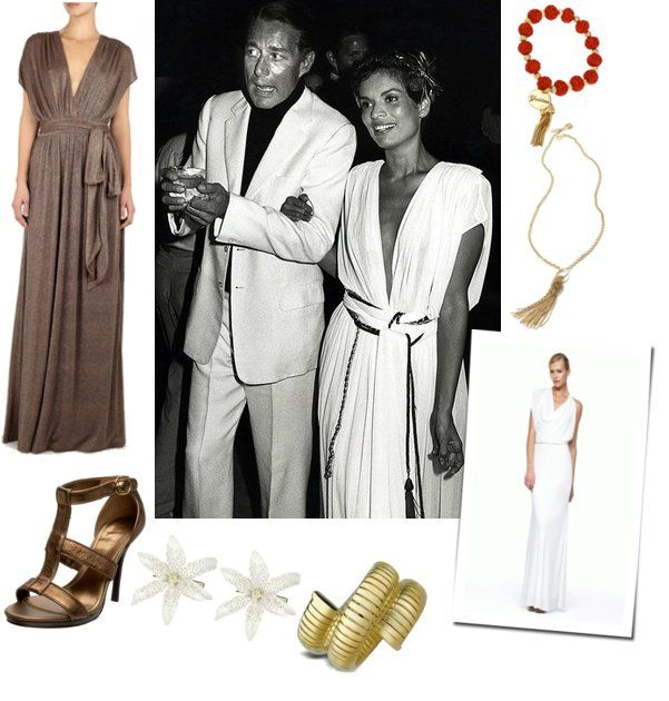 Style Icon Bianca Jagger in White Halston Dress