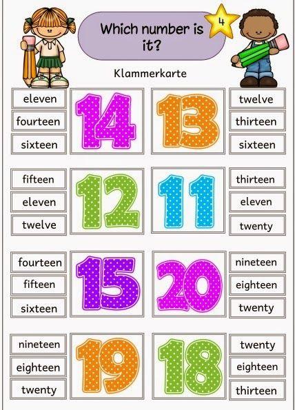 """Ideenreise: Klammerkarten """"numbers"""" (Zahlen von 0 bis 20)"""