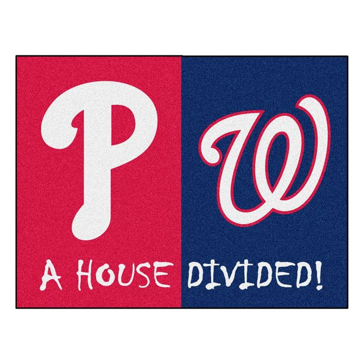 Philadelphia Phillies-Washington Nationals MLB House Divided All-Star Floor Mat (34x45)