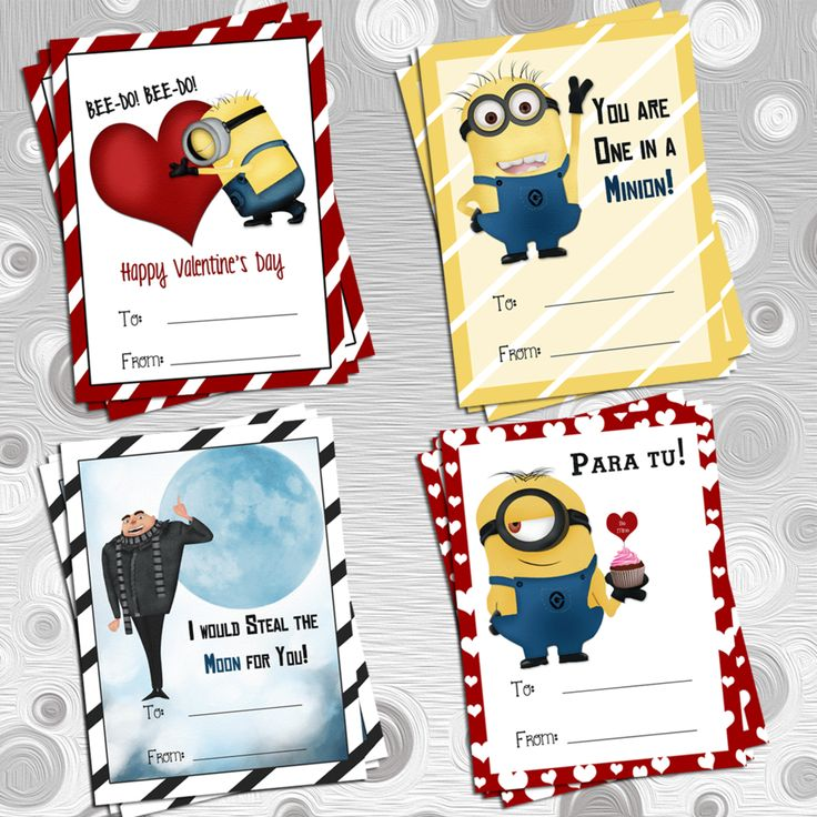 Minion Valentine Cards