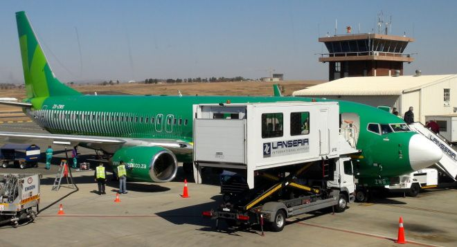 Kulula plane parked at Lanseria Airport