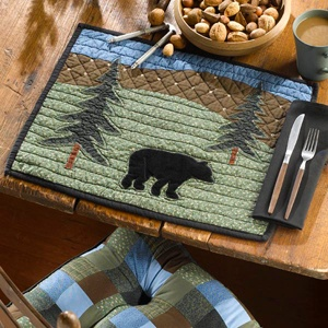 Bear Lake quilted placemat by Donna Sharp