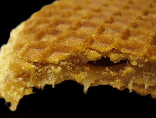 Stroop wafffle or syrup waffle (stroopwaffel)
