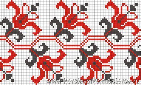 Схема украинской вышивки