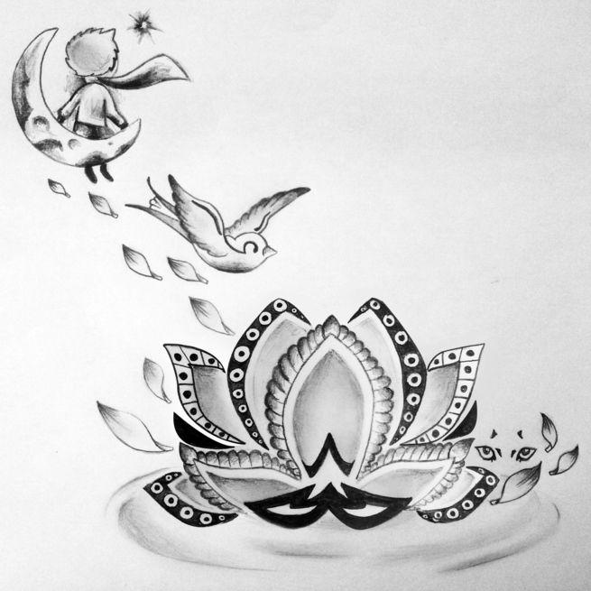 Les 9 meilleures images du tableau dessins tatouage sur pinterest dessins dessin de tatouages - Modele tatouage lettres entrelacees ...