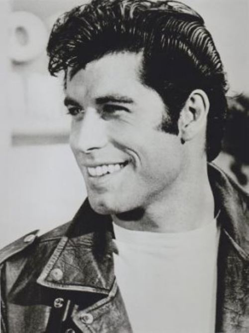john travolta during his GREASE days