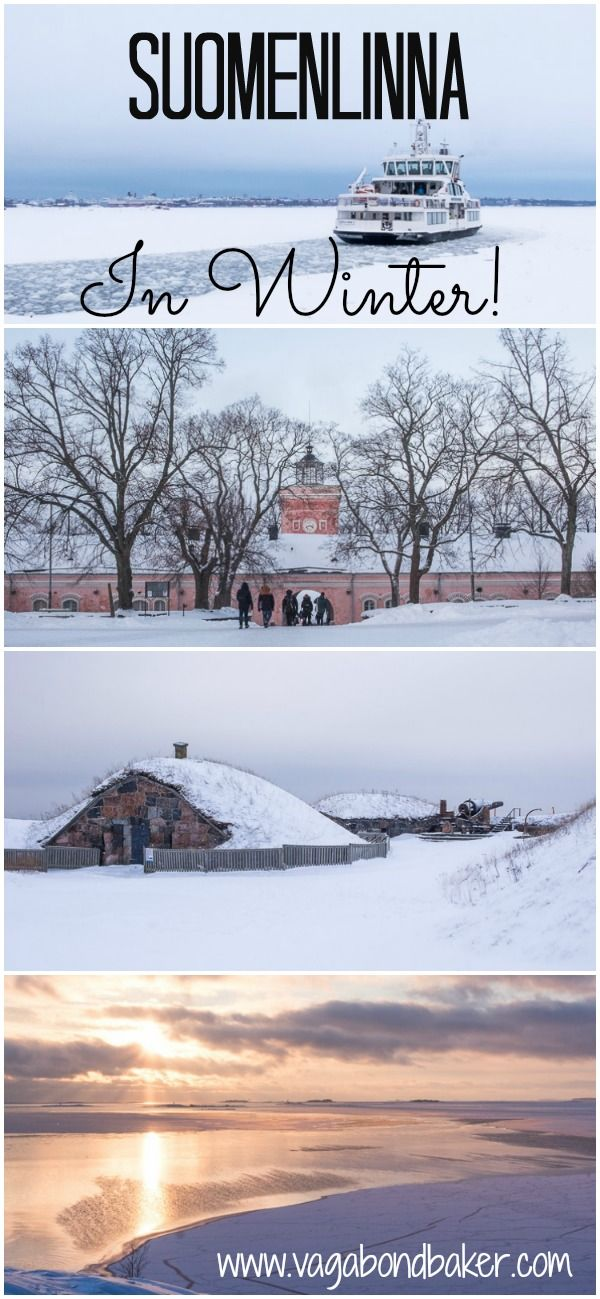 Here's Why You Must Visit Suomenlinna in Snow! Finland's UNESCO world heritage Sea Fortress in transformed in winter.
