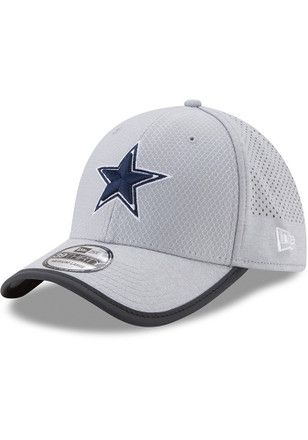 ea11e1e3d Dallas Cowboys Mens Grey 2017 Sideline 39THIRTY Flex Hat | NFL ...