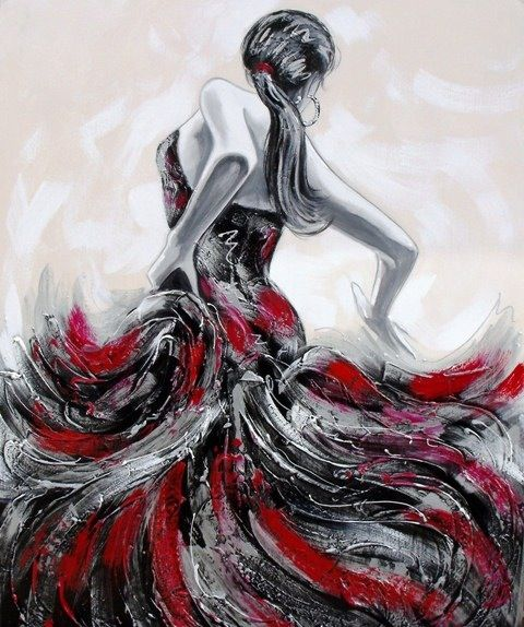 Cuadro, painting, canvas, art, flamenco
