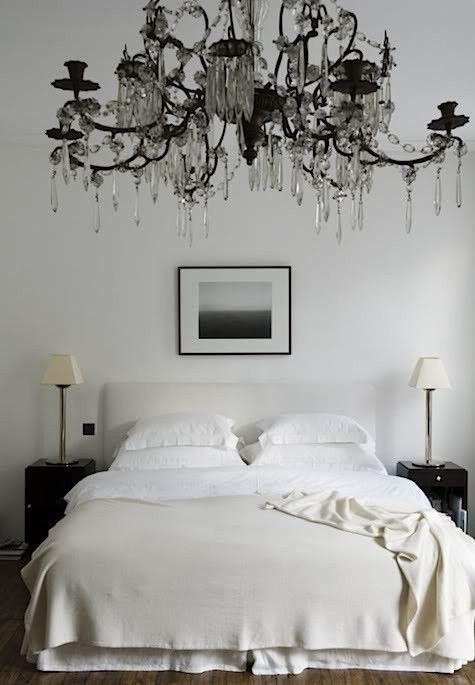 Chandelier: Interior Design, Decor, Rose, Ideas, Dream, Chandeliers, Bedrooms, White Bedroom