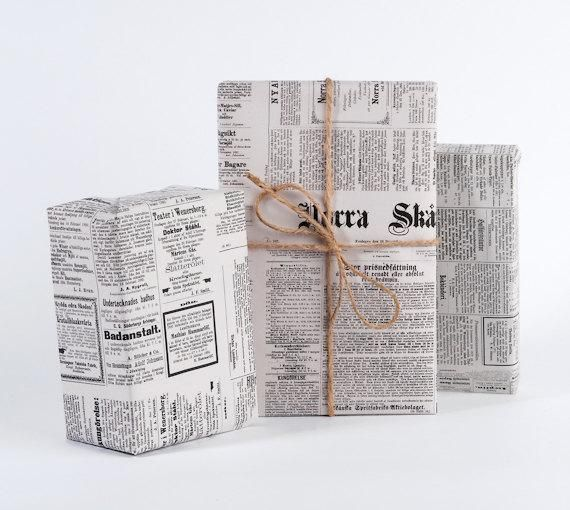 Vintage Swedish Newspaper Wrapping Paper In 2020 Newspaper Wrapping Newspaper Gift Wrapping Paper