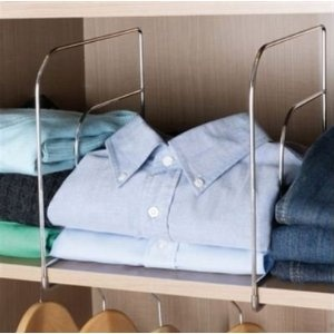 CHROME SHELF DIVIDERS SET OF 2 WARDROBE CLOTHERS ORGANISERS SEPARATORS: Amazon.co.uk: Kitchen & Home