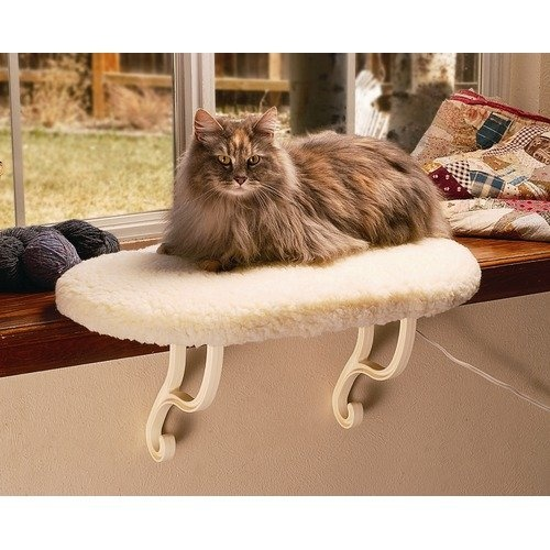 K Manufacturing Window Sill Heated Cat Bed