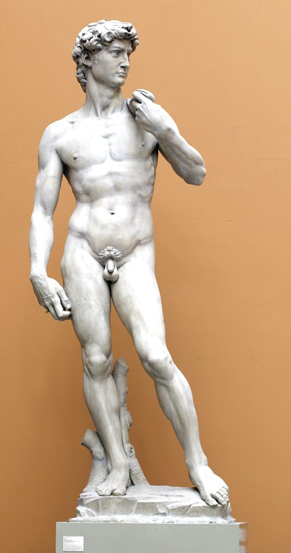 David by Michelangelo:  His build is what Diana Gabaldon based Jamie's body on (not including David's nether regions-- from various comments throughout the books, Jamie is well-endowed).