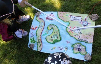 DIY cloth pirate map
