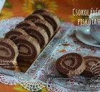 Csokoládékrémes piskótatekercs