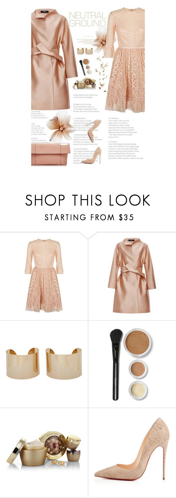 """""""Cool Neutrals"""" by amimcqueen ❤ liked on Polyvore featuring Elie Saab, Paule Ka, Maison Margiela, Blend Minerals, Elizabeth Arden, Christian Louboutin and Victoria Beckham"""