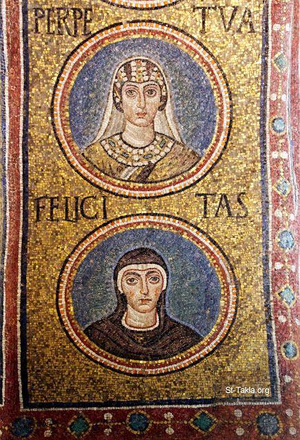 Cappella del Palazzo Arcivescovile, Ravenna. Mosaici della fine del V - inizio del VI secolo. Periodo teodoriciano, SANTE PERPETUA E FELICITA